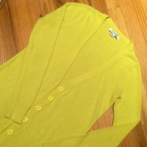 Forever 21 Citron Cardigan Sweater - Size Small